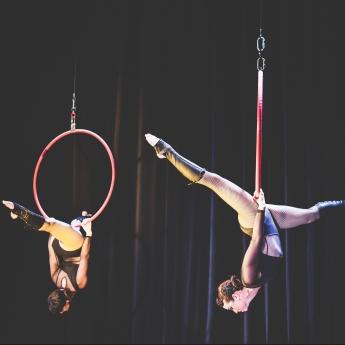 Synchronised Aerial Hoop Duet
